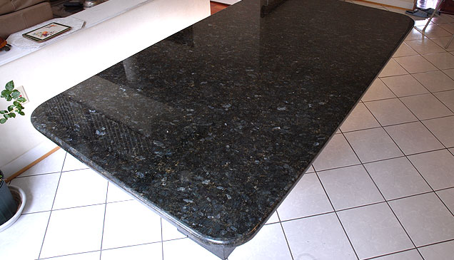 Peacock Green Countertop