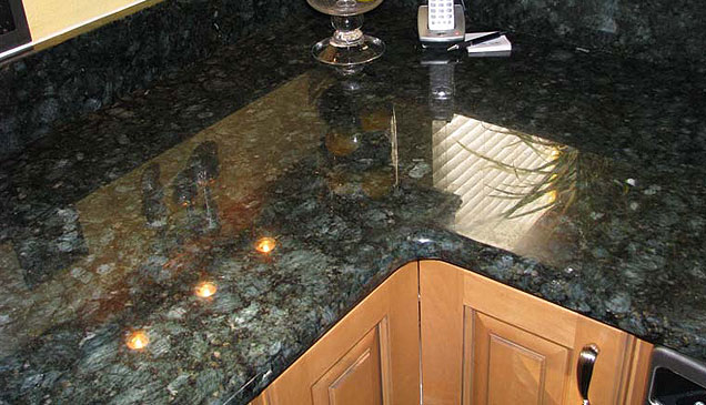 peacock green granite countertop
